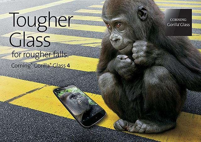 מודעת הפרסומת של Corning ל-Gorilla Glass 4. מקור: Corning