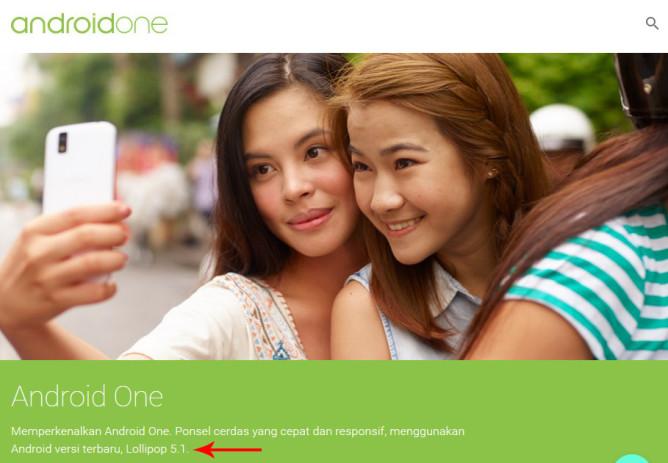 האתר של Android One לפני. מקור: Android Polic