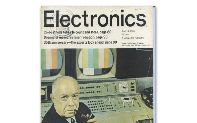 כריכת המגזין המקורי מ-1965. מקור: אינטל, עיבוד תמונה