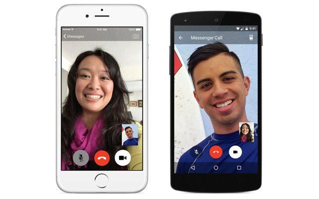 שיחות וידאו בין אנדרואיד ואייפון. מקור: Facebook