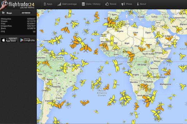מקור: Flightradar24 Facebook