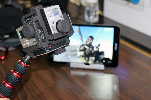 6 מצלמות GoPro: זה ההתקן עליו עובד החברה. צילום: גיקטיים
