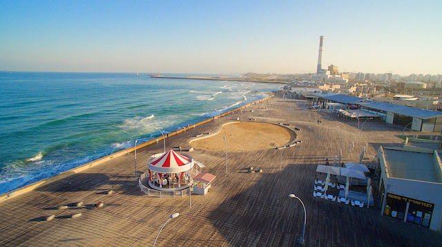 נמל תל אביב.  צילום: Sky High Israel
