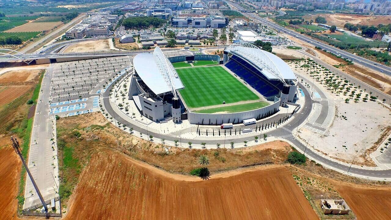 איצטדיון נתניה ממעוף הרחפן. צילום: Sky High Israel