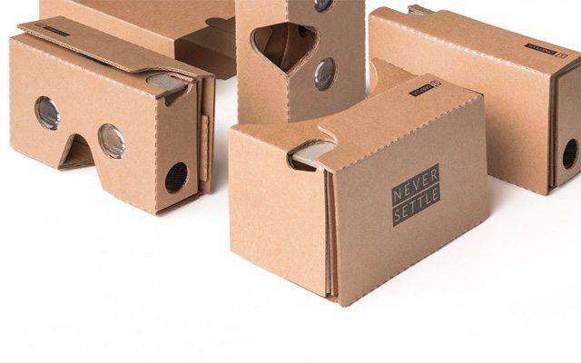 סיים סיים באט דיפרנט: ה-OnePlus Cardboard. כמו של גוגל, רק משודרג. מקור: OnePlus