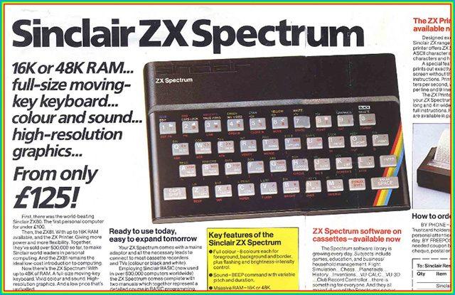 כן, יש גם 48K. פרסומת ל-ZX Spectrum.