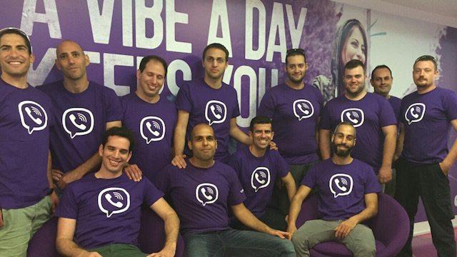 Nextpeer team with Viber T-Shirts