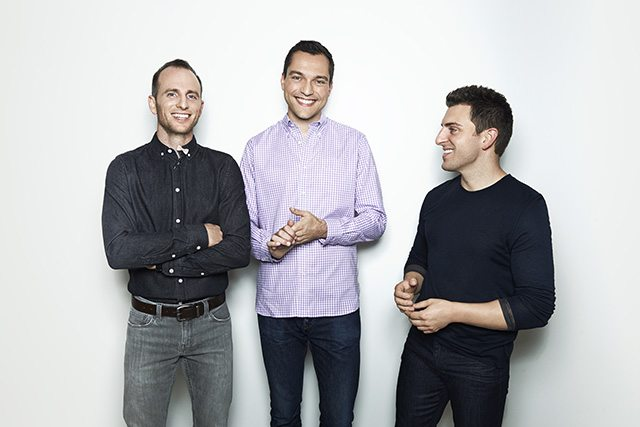 שלושת המייסדים של Airbnb. מקור: Airbnb