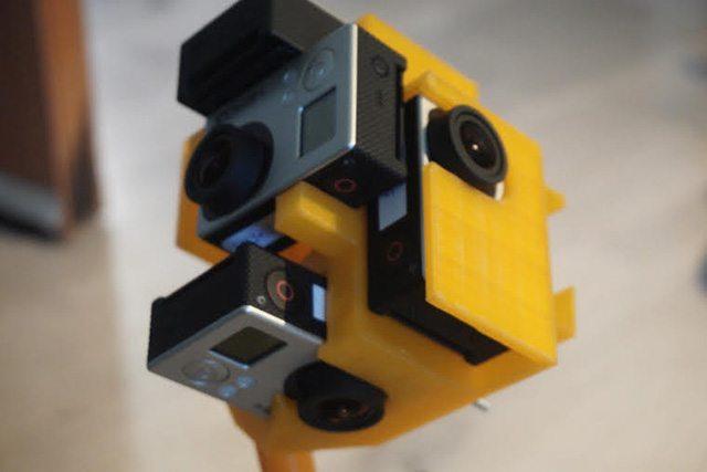 המתקן שהודפס במדפסת תלת מימד וכולל 6 מצלמות. צילום: אור פליישר