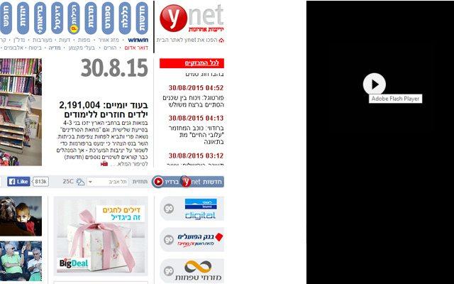 כך צפויות להראות פרסומות Flash באתרי תוכן. אילוסטרציה: גיקטיים