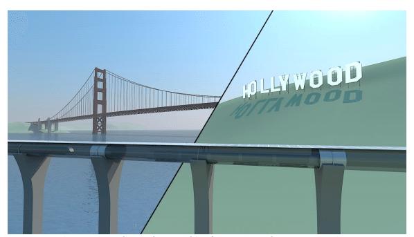 יכול גם לעבור מתחת למים. כאן בחיבור בין סן פרנסיסקו ללוס אנג׳לס