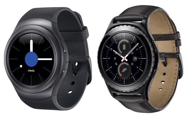 משמאל לימין: Samsung Gear S2 Classic, Samsung Gear S2