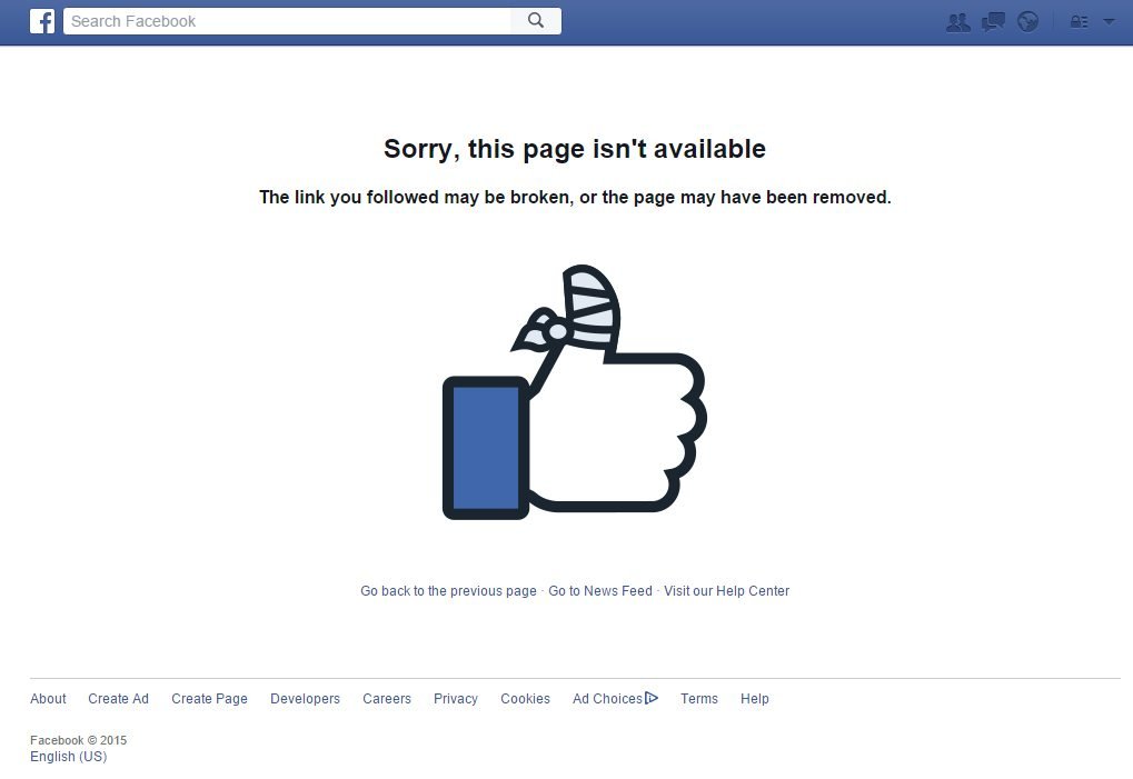 page 404 facebook