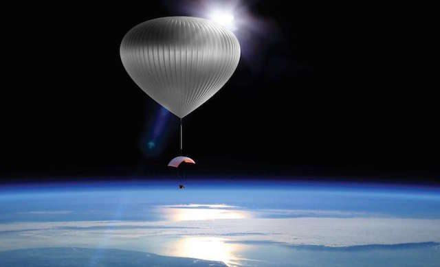 בלון מלא הליום יישא את תא התיירים של Zero2infinity לגובה של 35 קילומטרים מעל פני כדור הארץ (תמונה: מדע פופולארי)