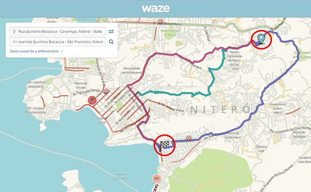 הנקודה אליה היו צריכים הזוג להגיע, מול הכתובת אליה נשלחו עם Waze. מקור: גיקטיים