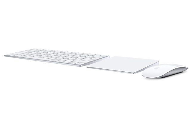 המוצרים המשלימים החדשים של אפל: מקלדת, עכבר ומשטח מגע. מקור: Apple