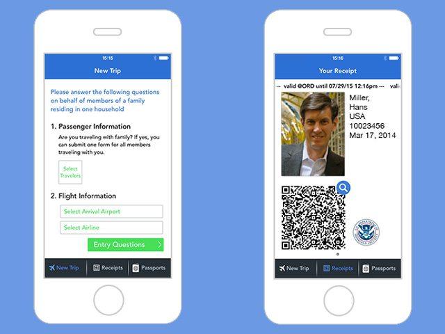 ממלאים פרטים (משמאל) ומקבלים קוד QR (מימין). מקור: Airside Mobile