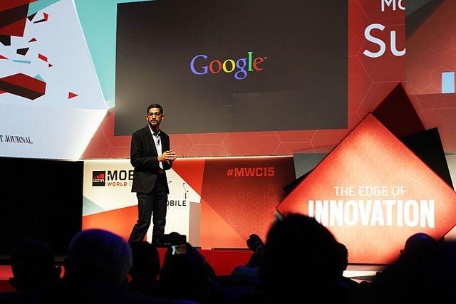 """סאנדר פיצ'אי, מנכ""""ל גוגל. מקור: cc-by-Maurizio Pesce"""