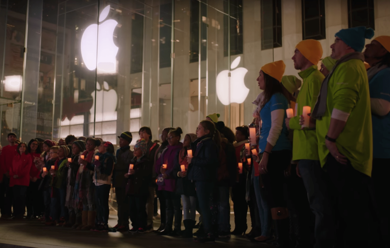 apple microsoft holiday spirit