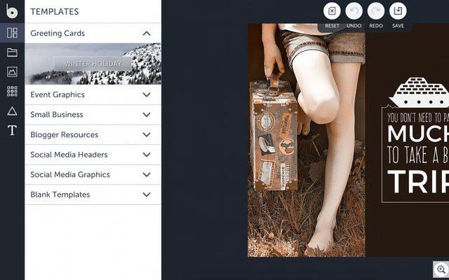 הממשק של Befunky. מקור: צילום מסך