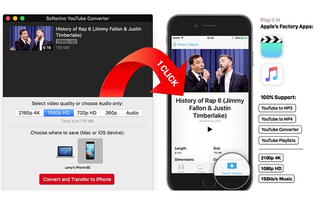 מקור: Softorino YouTube Converter