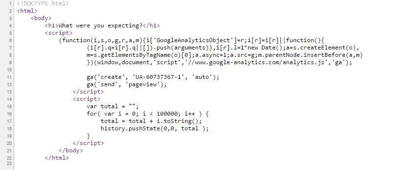 הקוד שגורם לקריסה. צילום מסך: גיקטיים