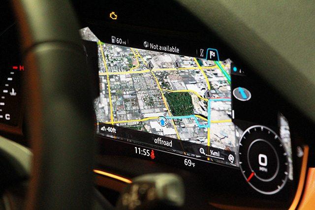 מבט מתוך המכונית של קוואלקום. צילום: גיקטיים
