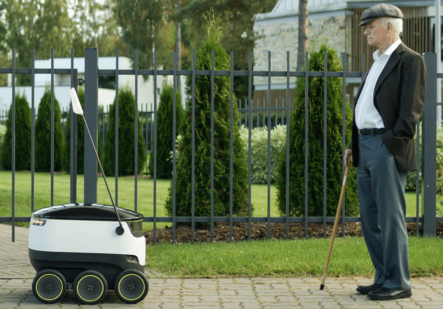בתמונה: חברת Starship Technologies מקווה שהרובוטים השליחים שלה יהיו מראה שכיח ברחובותינו בעתיד
