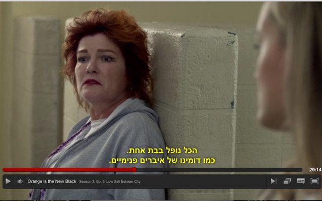 מי אמר שאין עברית בנטפליקס? מקור: צילום מסך