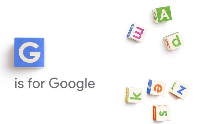 ג' זה גוגל. מקור: Alphabet