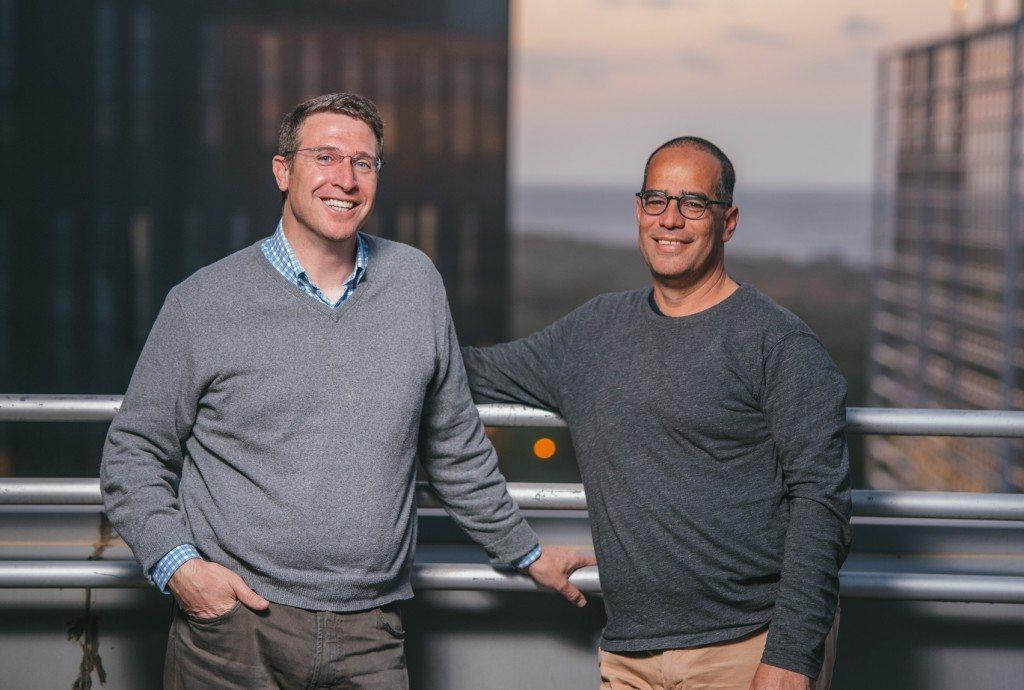 איציק פרנפס (מימין) וסקוט טובין. שותפים בכירים בבאטרי וונצ'רס. צילום: ירין טרנוס