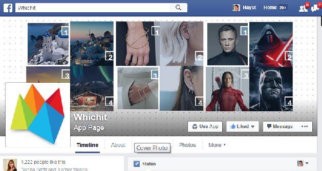 עמוד ה Facebook של Whichit