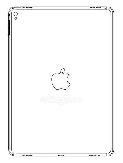 הסקיצה המודלפת של iPad Air 3