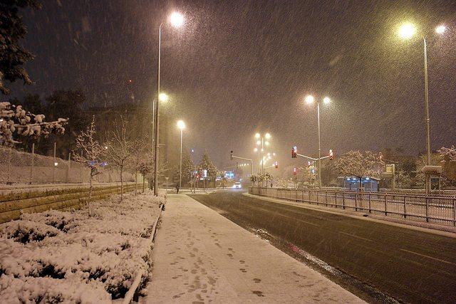 שלג בירושלים בחורף האחרון (ינואר 2015). תמונה: flickr, cc-by RonAlmog