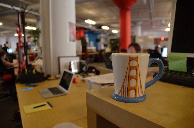 השולחן של ClipCall בסן פרנסיסקו. שני עובדים בארה״ב ועוד 8 בישראל