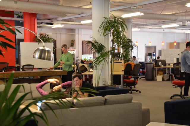 חלל העבודה של Hatch בסן פרנסיסקו. קהילה של יזמים צעירים