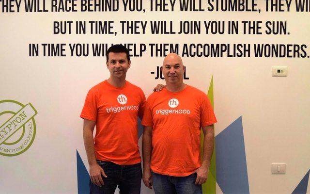 המייסדים -מימין לשמאל: טל גרינבאום, ניב אברמוביץ