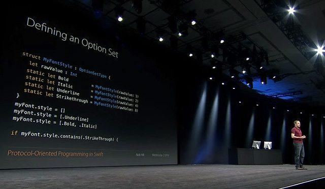 מתוך כנס המפתחים של אפל. צילום מסך: גיקטיים