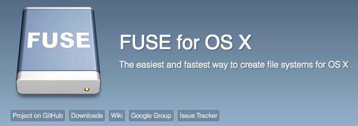 צילום מסך: האתר של OSXFuse