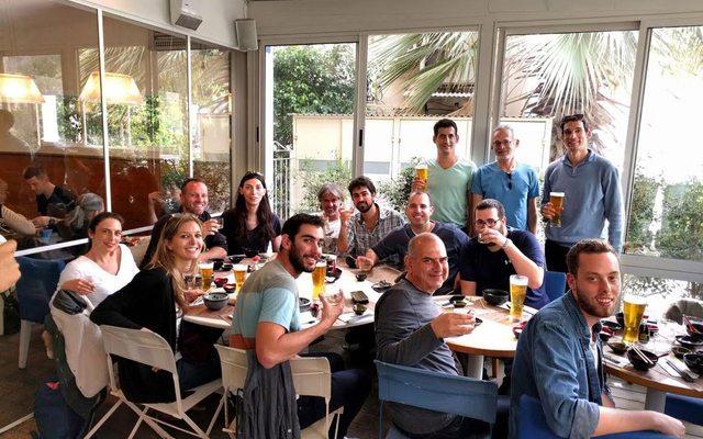 מנכלית Twist Bioscience עם כל עובדי ומייסדי Genome Complier בביקור בישראל לקראת הרכישה, מקור: Genome Complier