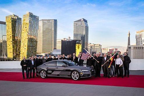 צוות המכונית האוטונומית אאודי A7. צילום: אאודי