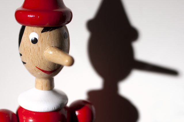 Pinocchio with shade