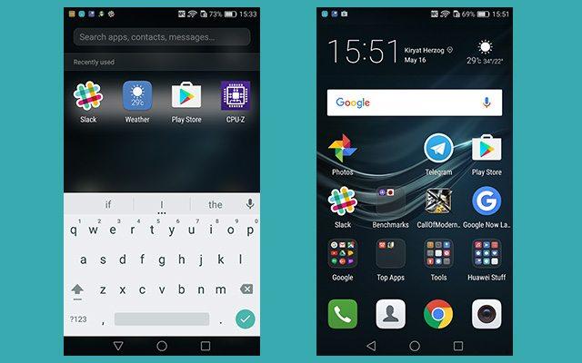 בלי מגירת אפליקציות, חיפוש זהה. רגע, זה אייפון או אנדרואיד? מקור: גיקטיים