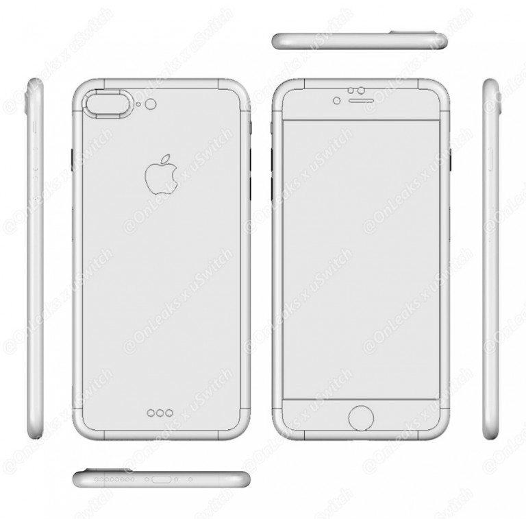 סכמות (לכאורה) של האייפון 7 הצפוי לצאת בסתיו הקרוב