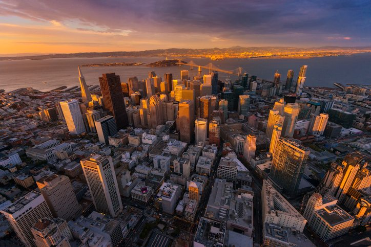 Aerial view San Francisco getty images