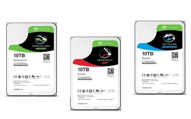 שלושת הדיסקים החדשים שהשיקה עכשיו Seagate. מקור: Seagate