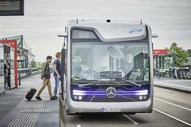 אוטובוס העתיד. מקור: Mercedes-Benz Future Bus with CityPilot