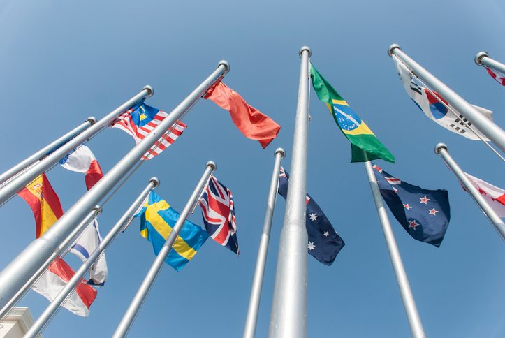 National flags getty images