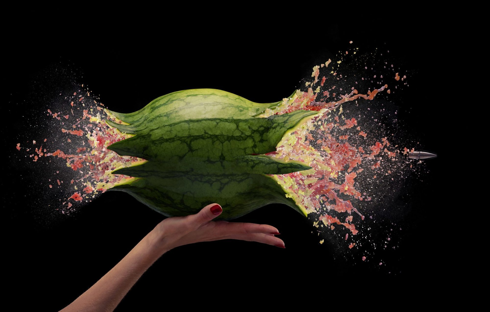 high speed watermelon getty images