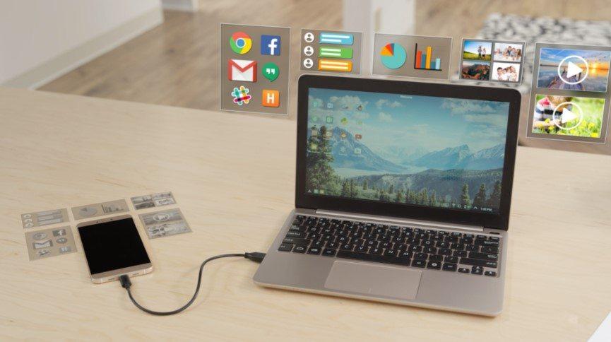 פשוט לחבר את הסמארטפון ל-USB וזהו. מקור: Superbook